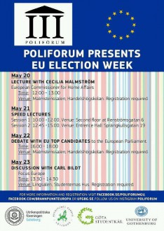 EU Election Week Poster Poliforum